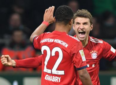 Bayern Munich stars celebrate.