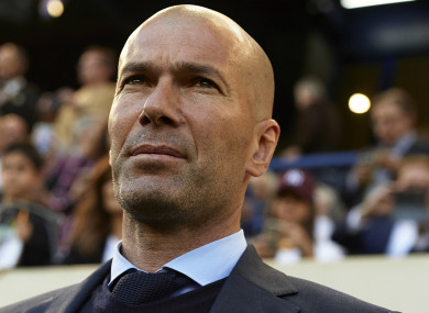 Former Real Madrid boss Zinedine Zidane.