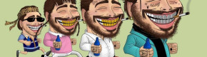 So, Post Malone is obsessed with this illustrator from Cork