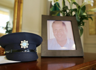 The book of condolences in Dublin's Mansion House for Detective Adrian Donohoe.