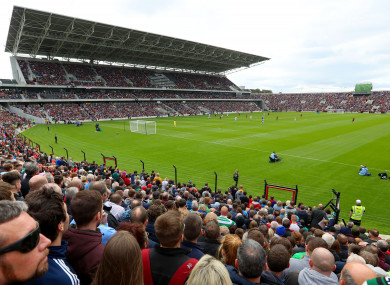 A huge crowd attended the Liam Miller tribute game in September.