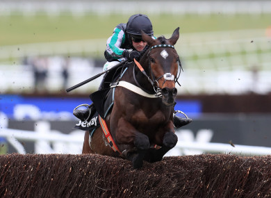 Altior on his way to victory this afternoon.