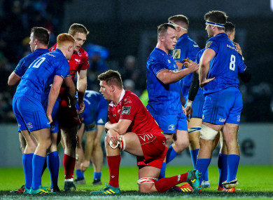 Leinster celebrate the final whistle.