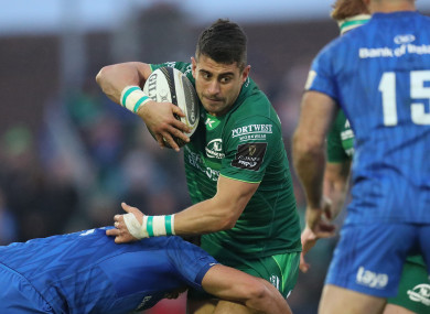 Tiernan O'Halloran returns to the Connacht starting team.