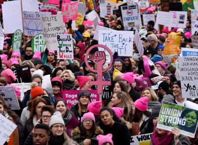 6e66d2c3c Thousands take to streets of US for Women's March amid government ...