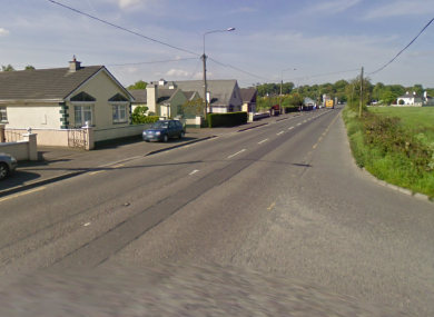 A stretch of the Dublin Road in Monasterevin.