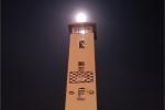 The moon captured above Rathfarnham fire station