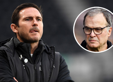 Marcelo Bielsa provided a presentation on Lampard's tactics at Derby while admitting to 'spying' on all of Leeds' opponents.