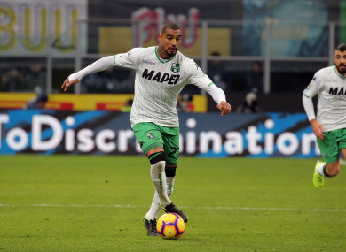 Boateng is currently plying his trade with Serie A side Sassuolo.