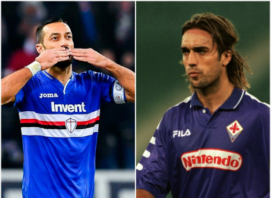 Quagliarella has equalled Batistuta's record set back in 1994.