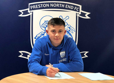 O'Reilly is captain of Preston's youth team.