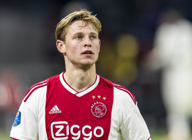 De Jong made five appearances for the Netherlands in 2018.