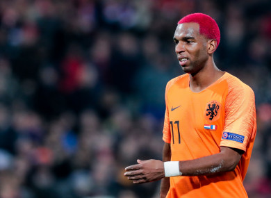 Babel in action for the Netherlands during the 2018 Nations League.