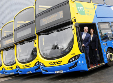 National Transport Authority CEO Anne Graham and James Caffrey, Head of Finance at Go-Ahead Ireland.