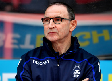 Nottingham Forest boss Martin O'Neill.