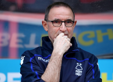 Martin O'Neill was appointed as Nottingham Forest manager earlier this month.