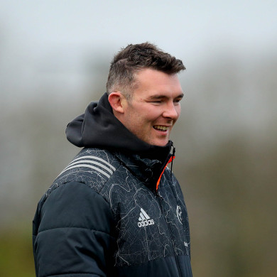 Munster captain Peter O'Mahony pictured in training this week.