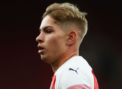 Emile Smith Rowe made a handful of appearances for Arsenal.