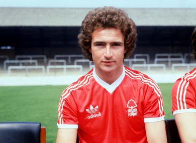O'Neill pictured ahead of the 1978-79 season.