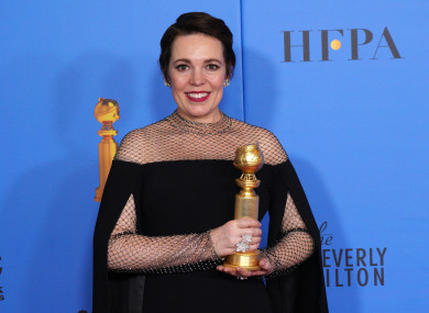 Olivia Colman poses in the press room during the 76th Annual Golden Globe Awards