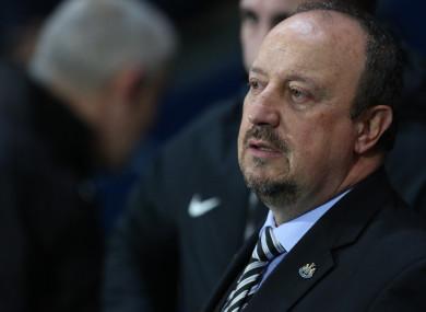 Rafa Benitez during Newcastle's third-round FA Cup win against Blackburn.