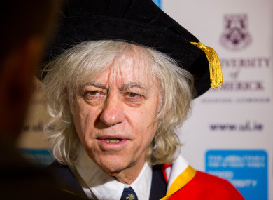 Geldof received an honorary doctorate from UL today.