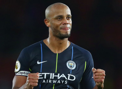 Manchester City captain Vincent Kompany is gearing up for tonight's clash with Liverpool.