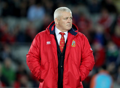 Gatland hasn't ruled himself out of the running.