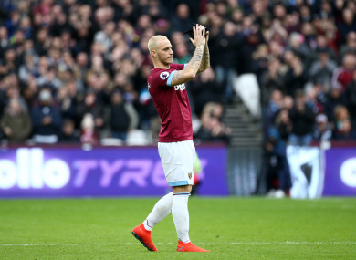 Staying put: Arnautovic has is not leaving West Ham.