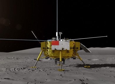 Photo provided by State Administration of Science, Technology and Industry for National Defense shows the image of the moon lander for China's Chang'e-4 lunar probe