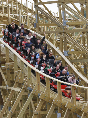 The Cú Chulainn Coaster pictured when it opened in 2015.