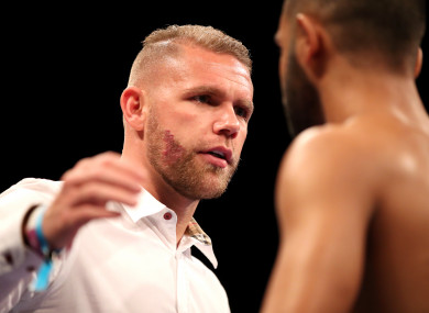 Saunders will fight at 168 pounds in a bid to become two-weight world champion.