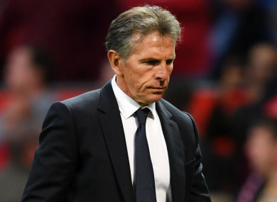 Claude Puel was dismissed by the Foxes after 16 months in charge.