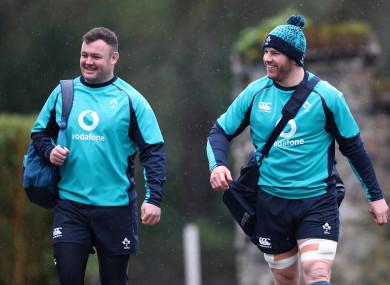Kilcoyne and Sean O'Brien head for training.