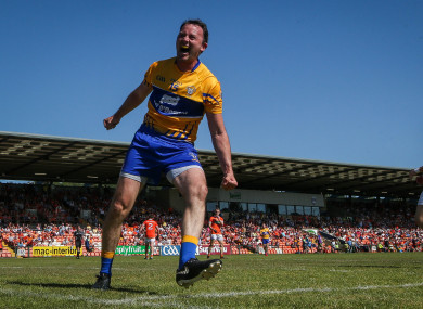 Tubridy celebrates scoring against Armagh last year.