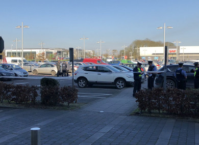 The scene in the retail park yesterday.