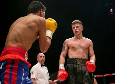 Dylan Moran in action against Nelson Altamirano in Castlebar in December.