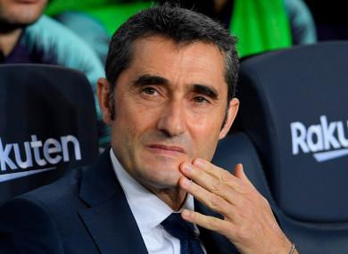 Staying put: Ernesto Valverde.