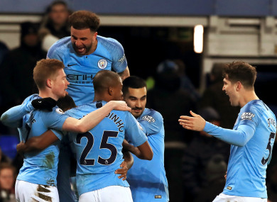 Singing the Blues: City back on top following Everton win.