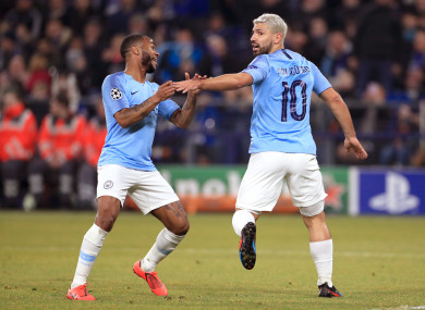 Raheem Sterling and Sergio Aguero were both on target on Wednesday night.