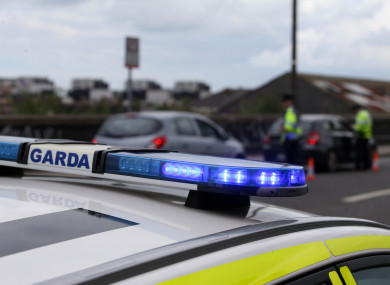 File photo of Garda checkpoint.