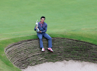 Rory McIlroy with the Claret Jug in 2014.