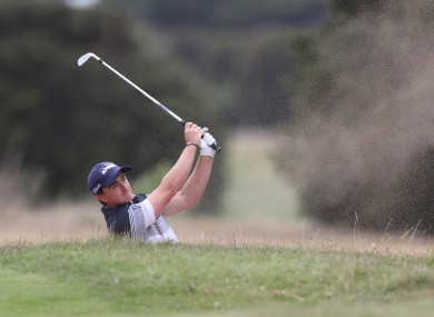 Paul Dunne at the Victorian Open last week.
