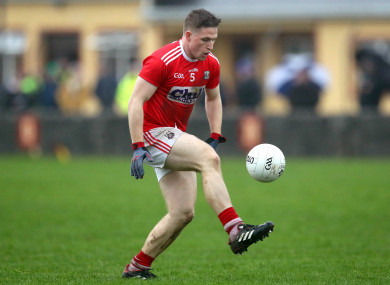 Liam O'Donovan pictured in action for Cork against Clare in the recent McGrath Cup final.