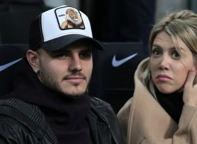 Inter strike Mauro Icardi with wife and agent Wanda Nara.