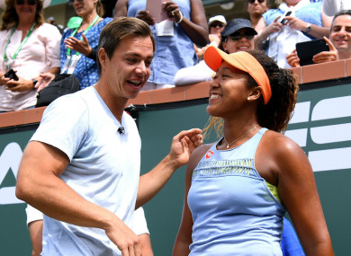 Parting ways: Naomi Osaka (r) and Sascha Bajin (l).