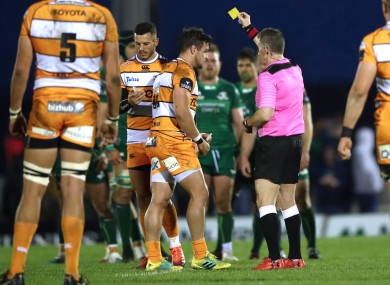 Lee was also sin-binned for a high tackle in the game at the Sportsground.