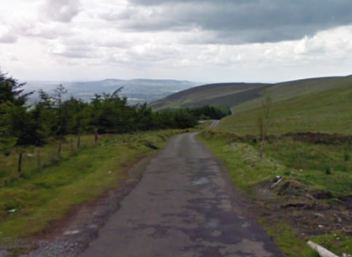 The Nine Stones area of Co Carlow, where the crash took place yesterday