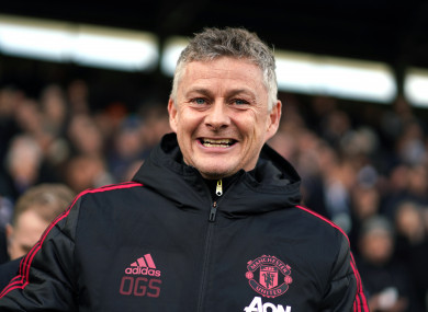 Interim Man United manager Ole Gunnar Solskjaer.
