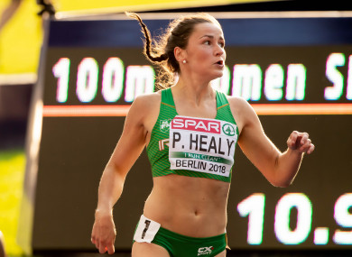 Phil Healy pictured in Berlin at the European Athletics Championships in August.